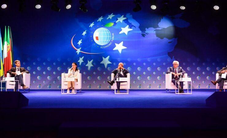 Swiatłana Cichanouska na Forum Ekonomicznym 2020