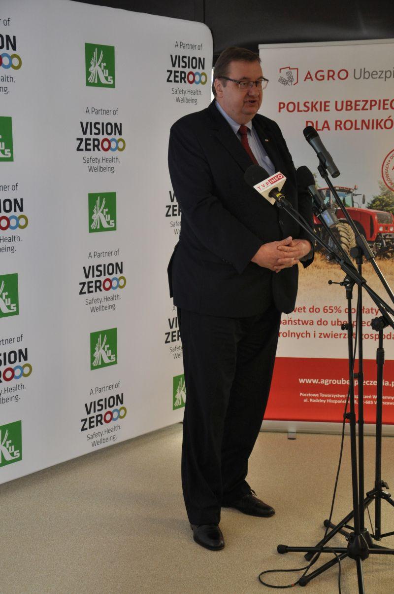 Konferencja prasowa z udziałem z udziałem Wiceministra Rolnictwa i Rozwoju Wsi Pana Szymona Giżyńskiego.