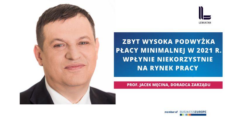 prof. Jacek Męcina, doradca zarządu konfederacja Lewiatan