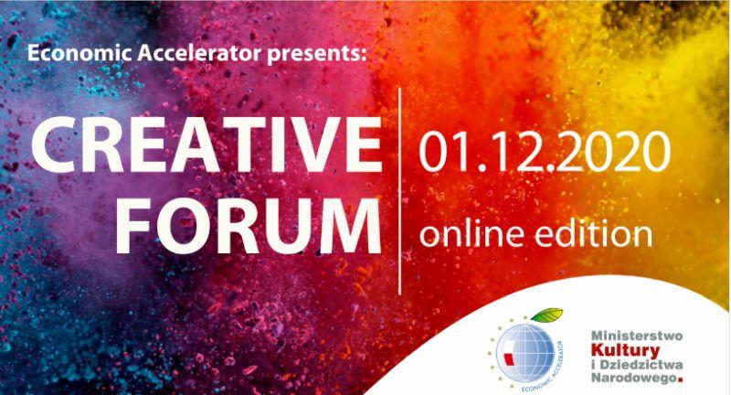 Creative Forum. 2020 w trybie online baner