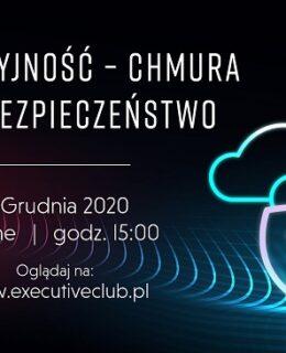 Innowacyjność chmura bezpieczeństwo baner