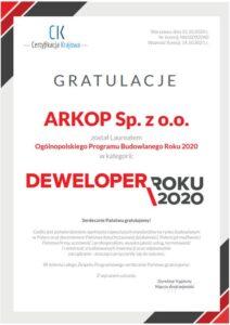 Arkop - Deweloper Roku 2020