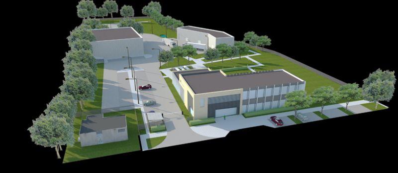 Wizualizacja Średzkiego Inkubatora Przedsiębiorczości w wersji docelowej