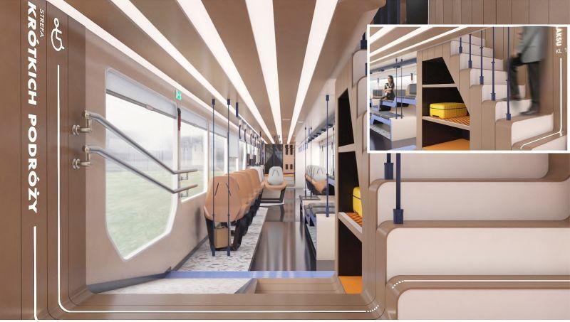 Projekt - Pociąg przyszłości- projekt nowego pociągu klasy Intercity
