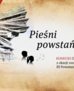 pieśni powstańcze konkurs dla dzieci plakat