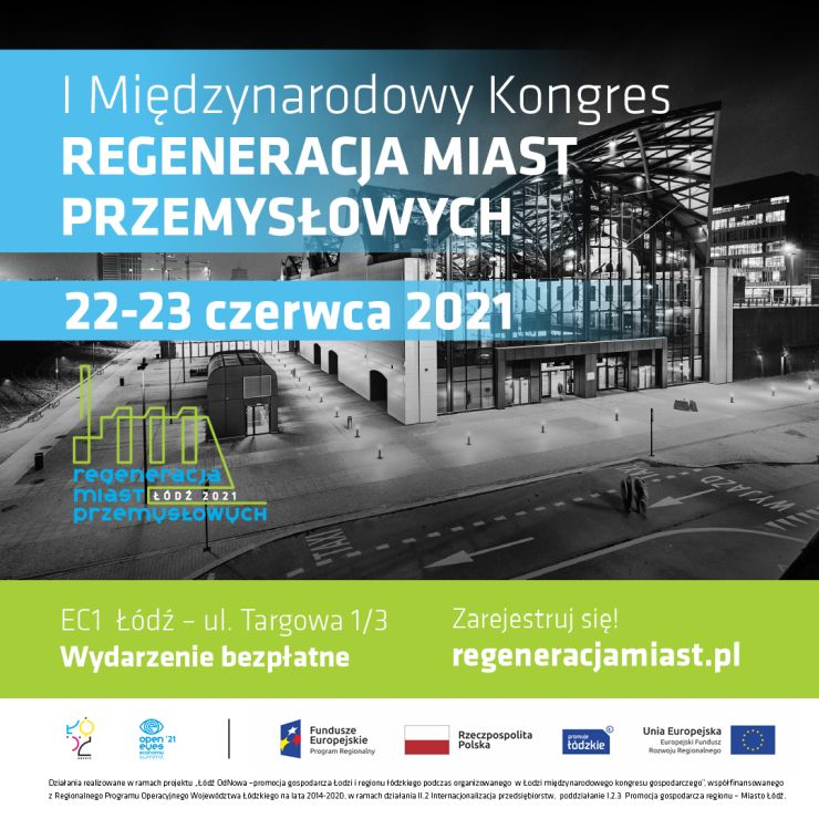 I Międzynarodowy Kongres Regeneracji Miast Przemysłowych baner