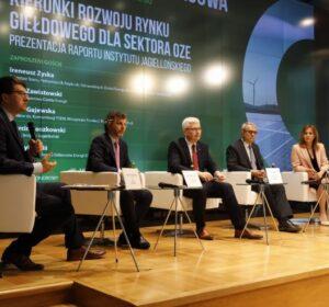 """konferencja prasowa, podczas której zaprezentowano raport """"Kierunki rozwoju rynku giełdowego w Polsce"""","""