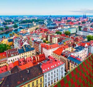 Panorama Wrocławia, stare miasto