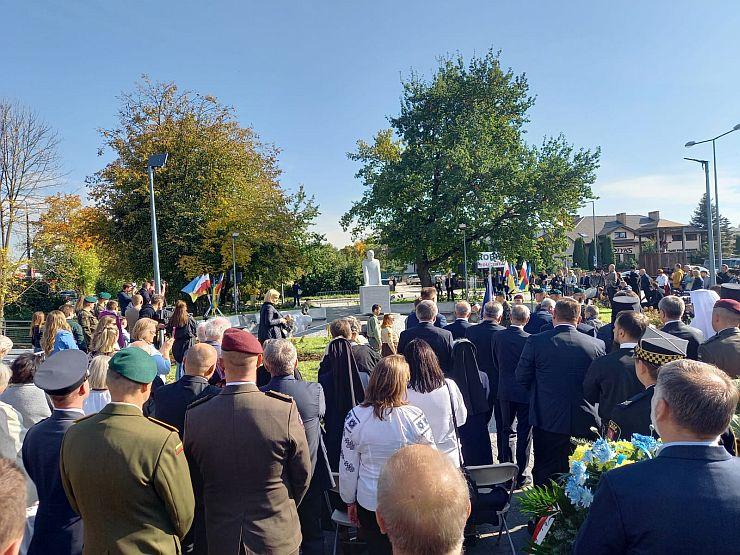 Odsłonięcie pomnika bł. ks. Emiliana Kowcza w Lublinie